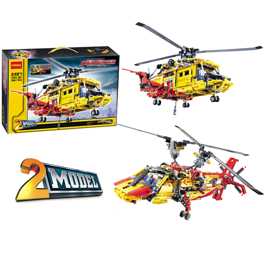 Building & Construction Toys Intellective Decool Technic Compatible Legos 2model Helicopter F1 Rally Car Racer Moc Sets Model Building Kits Brick Blocks Toys For Kids Fancy Colours