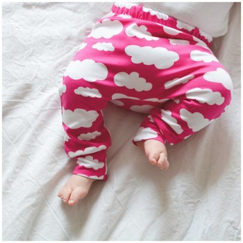 Toddler Baby Boy Girl PP Leggings Sweatpants Cotton Trousers Clothes Clound Printed Harem Pants Trousers Bottom Leggings 1