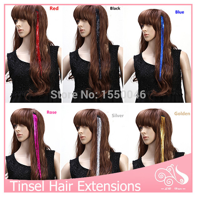 50pcslot Clip In Hair Extensions Wholesale Tinsel Hair Extension