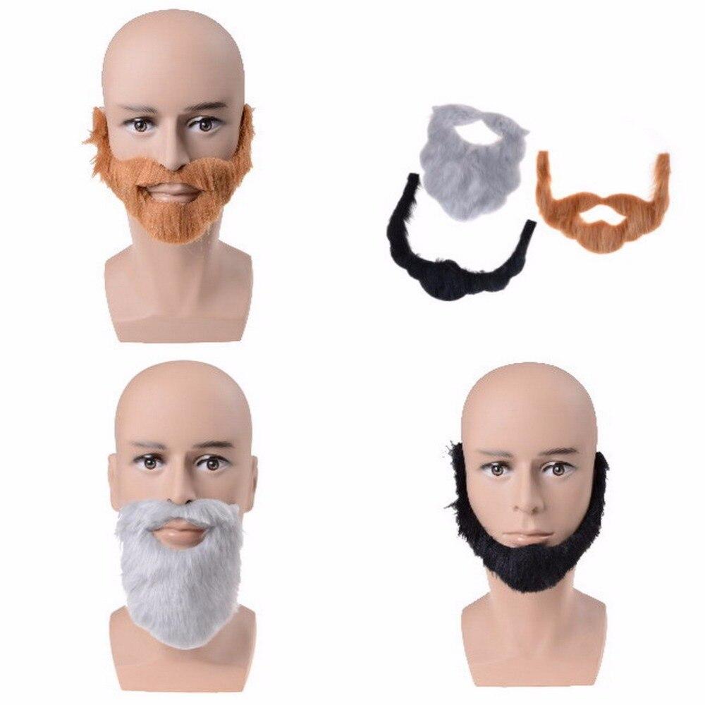 Barba Bigote Vello Facial Disfraz Juego Divertido Hombre Accesorio de Fiesta