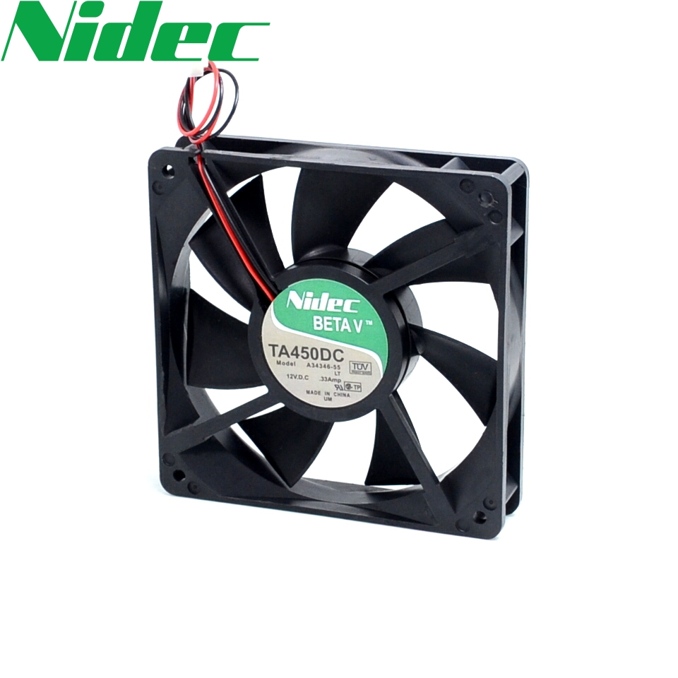 Free shipping original nidec TA450DC A34344-16 125 12V 0.30A durable radiator fan