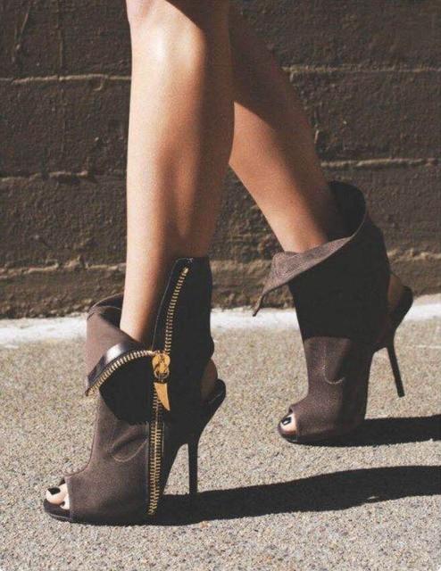 HIZCINTH New Fashion 2018 Summer High Heel Sandals Fish Mouth Shoes Woman Side Zipper Cool Sandalias Boots Sandalia Gladiador