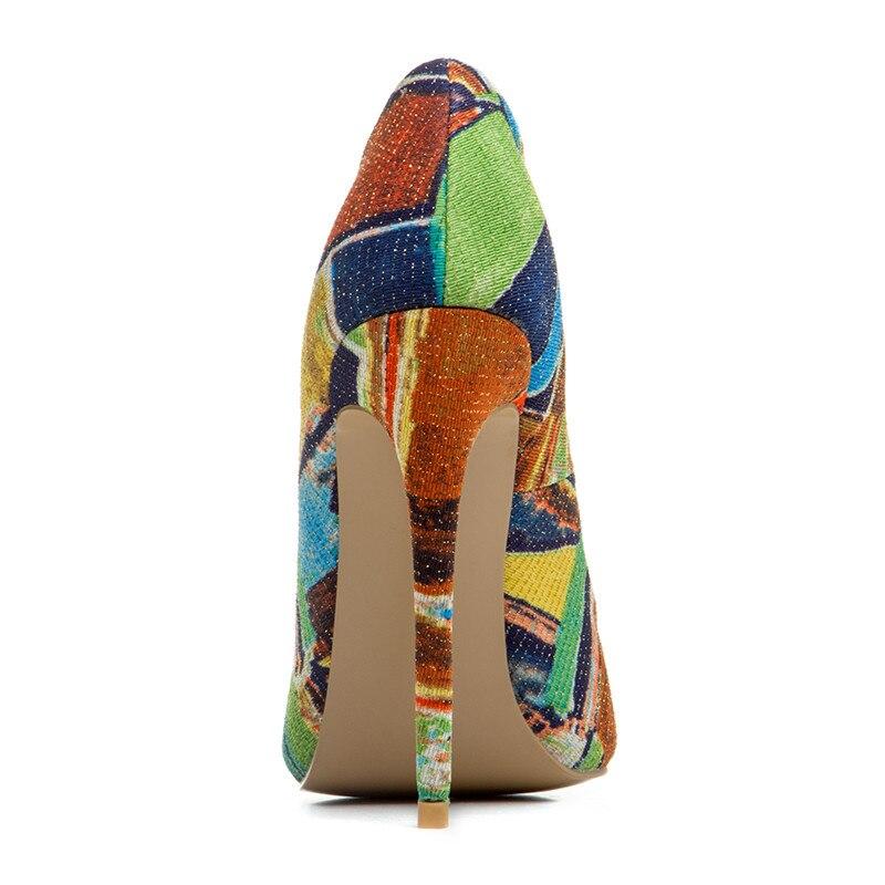 Cm 2018 Camouflage Denim Cocoafoal 10 Cm Femmes Taille Talon Femme Mariée Parti Hauts Chaussures Plus Stiletto Pompes Noce Talons De 12 Red qZfwqaxH