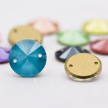 Astrobox Швейные Стразы k9 стеклянные риволи 12 мм пришить Камень