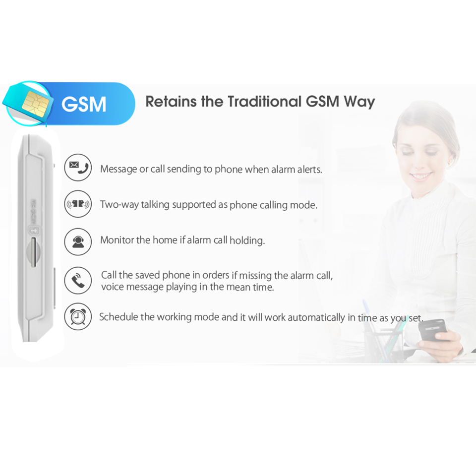 Image 4 - DAYTECH GSM Color Touch Screen GSM WiFi Alarm System PIR/Door/Window Sensor Android iOS APP Remote Control Compatible with Alexa-in Alarm System Kits from Security & Protection