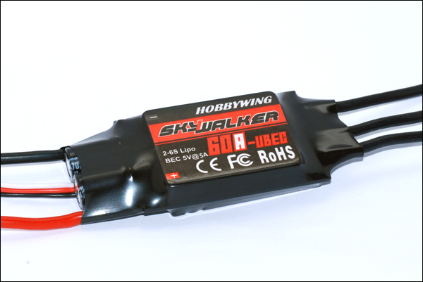 Brushless Controlador de Velocidade ESC Com UBEC Hobbywing SkyWalker 60A para Trex 500 heli