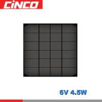 6 V 750mA 4,5 ватт 4,5 Вт поли панель Солнечная стандартная эпоксидная монокристаллическая кремния DIY батарея заряд энергии модуль солнечных бата...