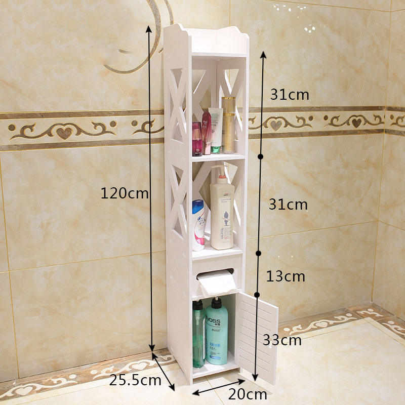 Floor Standing Bathroom Storage Rack