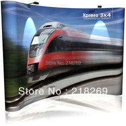 3X3(230X230cm) High Quality Magnetic Pop up Stand banner with free shipping to Hongkong