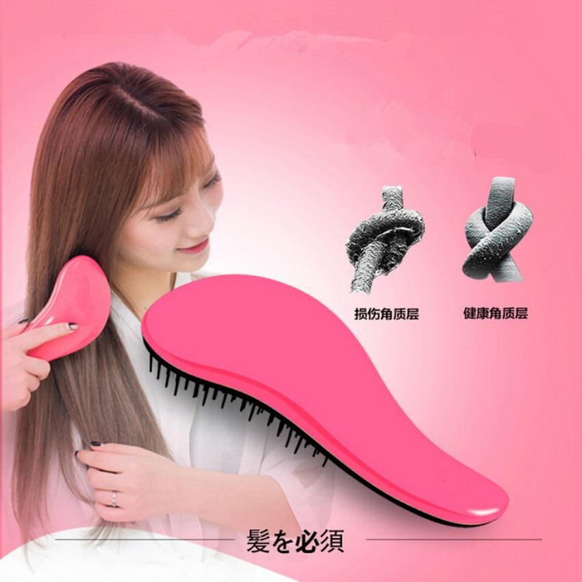A Beautiful Pink Girls Saloon Hair Comb Hair Brush