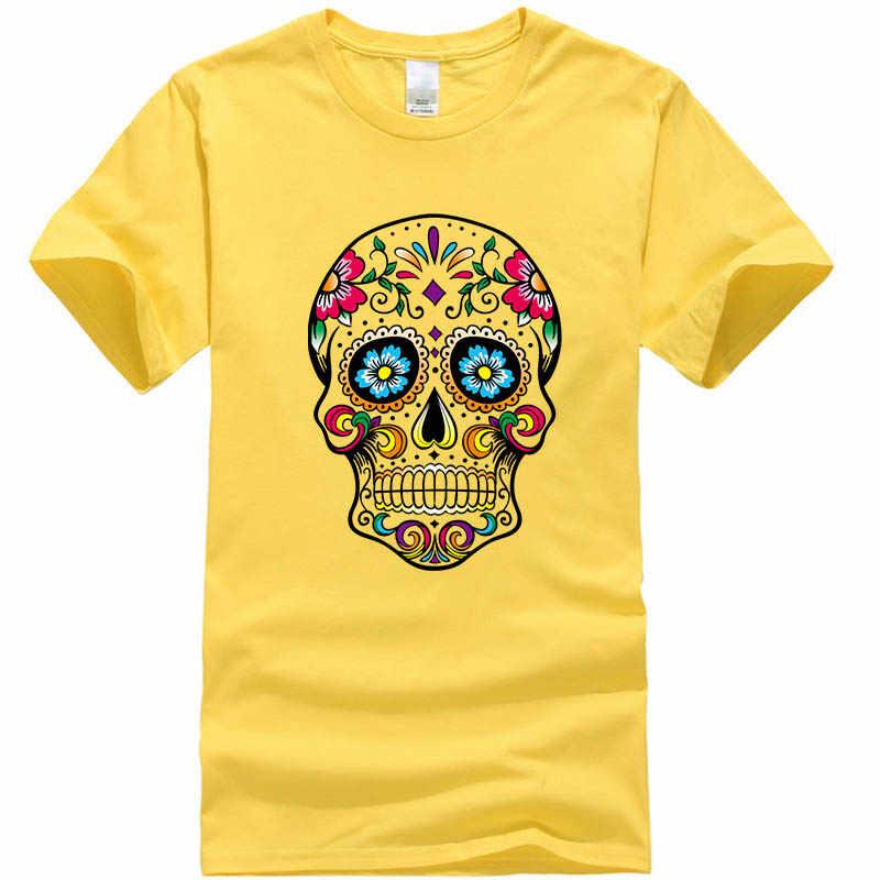 Di alta qualità degli uomini T-Shirt nuovo design street style allentato cool skull stampato uomo T shirt casual manica corta o-collo cotone sciolto