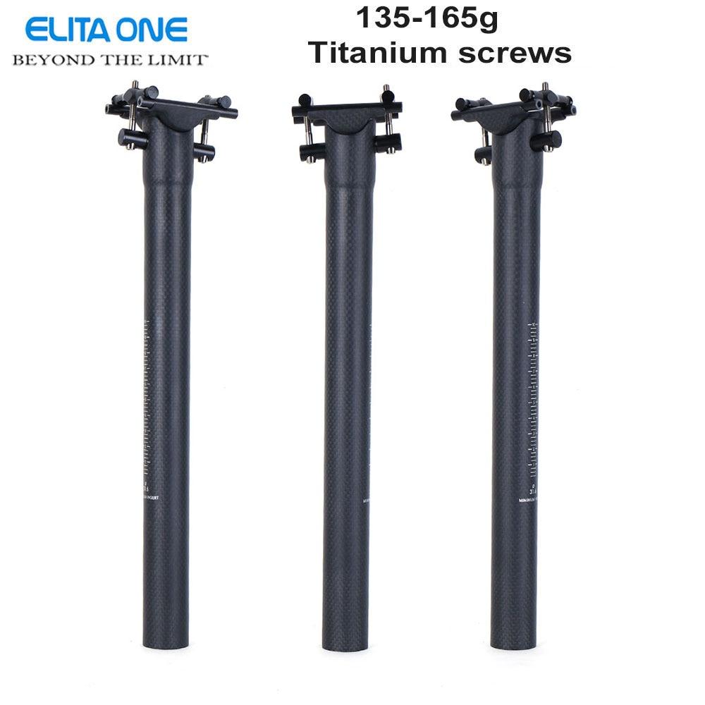 Full Carbon fiber MTB Road Bike Seatpost Bicycle tube 27.2 30.8 31.6mm Matt