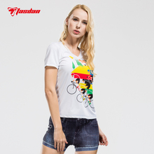 Tasdan Womens Running T-shirts Jersey Cycling Wear Clothings Short Sleeve Tops for Bike Bicycle