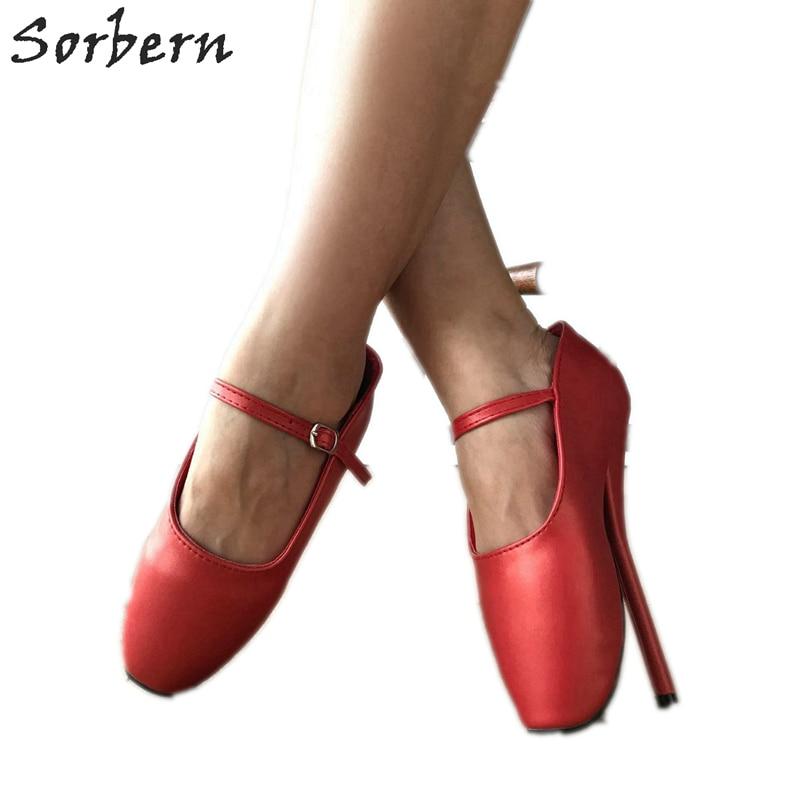 Womens Ballet Dance 18Cm stilettos High Heels Lace Up Shoes ankle Boots Plus Sz