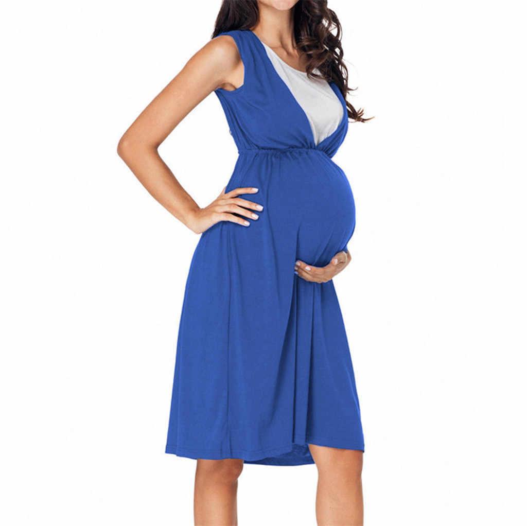 348784ed4c6ee Nursing Dress Women Loose Vest Sleeveless Breastfeeding Dress Summer for  Feeding Maternity Pregnancy Clothes Plus Size