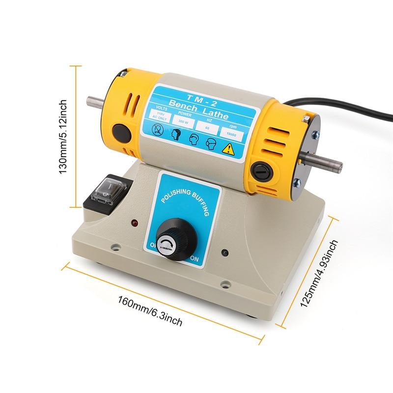 350 W Elektrische Grinder Polieren Maschine Kit Einstellbare Geschwindigkeit Polierer Schleif Schmuck Dental Motor Drehmaschine Bank Mini Polieren