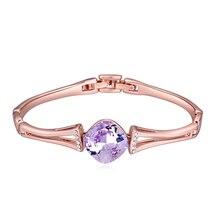 Orinigal btime alta calidad chapado en oro pulseras de cristal mujeres brazaletes pulseras del brazalete de una dirección