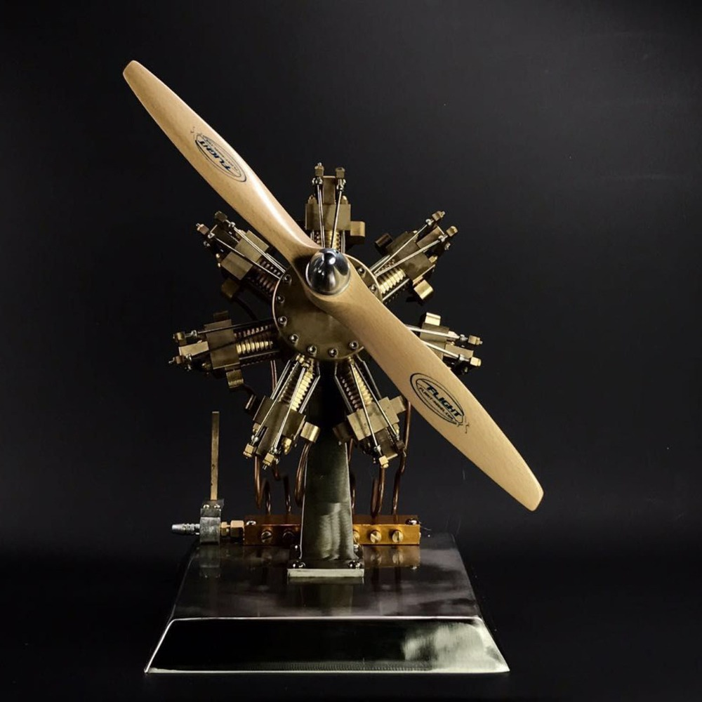 Sete-estrela modelo de motor a vapor, todo em metal artesanato criativo