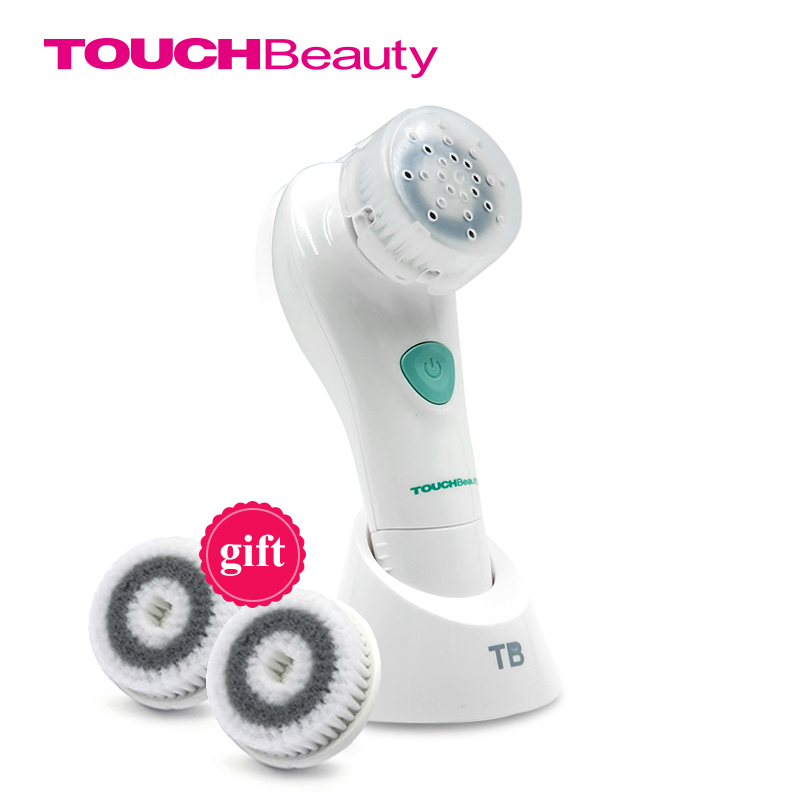 Buy 1 get 2 free brush TOUCHBeauty Face Cleansing Brush Oscillating with PBT Brush Head,two working speeds facial brushTB-1487 touchbeauty 3 in1 rotating facial cleansing brush set with 3 replacement brush heads 2 speed settings with storage box tb 0759a