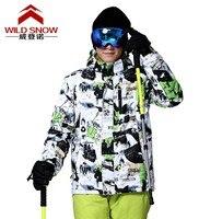Mężczyźni biały i czarny Kurtka męskiej odzieży wierzchniej mężczyzna jazda Snowboard narty Śnieg Kurtki Narciarskie wodoodporne wiatroszczelne termiczna skiwear