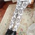 Vintage Blue And White Porcelain Print Leggings Ankle-length Pants Sheath Capris Casual Sweatpants compression women