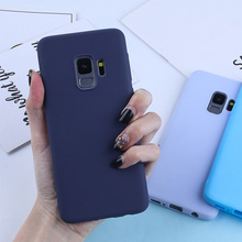 Matte Candy Color Silicone TPU Case For Samsung Galaxy A50 A7 2018 A3 A5 A7 J3 J5 J7 2016 2017 A6 A8 Plus J4 J6 2018 Cover Capa все цены