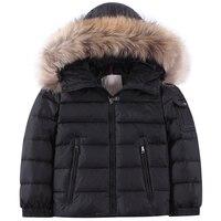 大人と子供のフード付きダウンジャケットガールの 90% ホワイトダックダウンフード付きジャケット