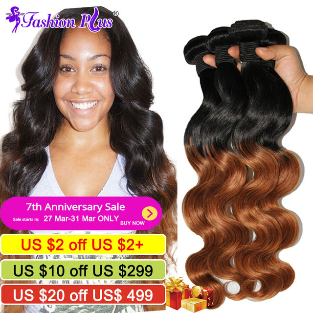 6a Brazilian Virgin Hair 4bundles Ombre Hair Extensions Ombre