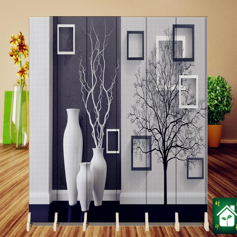 hanging screen wall decoration hangings room divider partition wall biombo wood wall stickers folding screen 18040cm6pcs