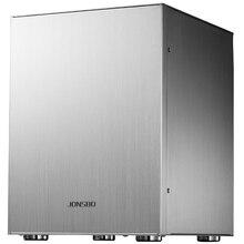 Jonsbo C2 כסף אלומיניום מיני ITX MATX מחשב מקרה USB3.0 משחק קטן מארז C2S שחור HTPC ITX מקרה