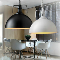 White black Pendant Lamp Modern Vintage industrial Edison Bulbs fixtures Bar,cafe,Restaurant Bedrooms loft Dining room