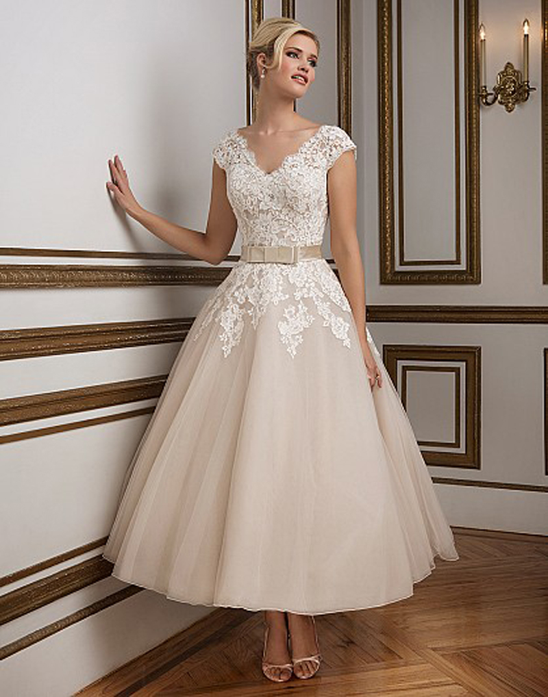 Popular Vintage Inspired Lace Wedding Dresses-Buy Cheap Vintage ...