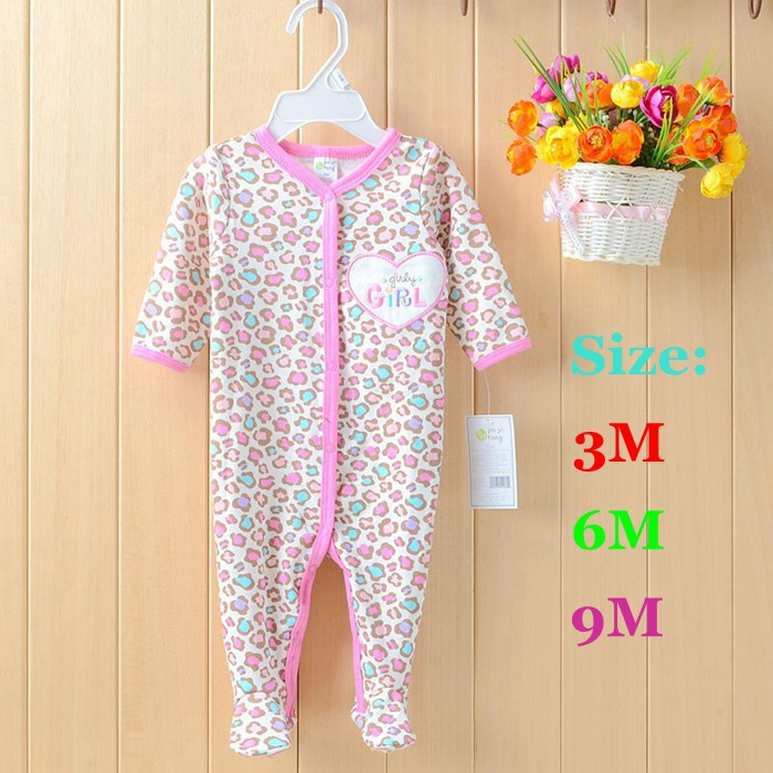 Long Sleeve Pink Leopard Body Baby Rompers Recem Nascido Ropa Macacao Bebe Newborn Baby Girl Romper Kids Clothes Infant Clothing 2016 bebe rompers ropa pink minnie hoodies newborn long romper baby girl clothing roupa infantil jumpsuit recem nascido