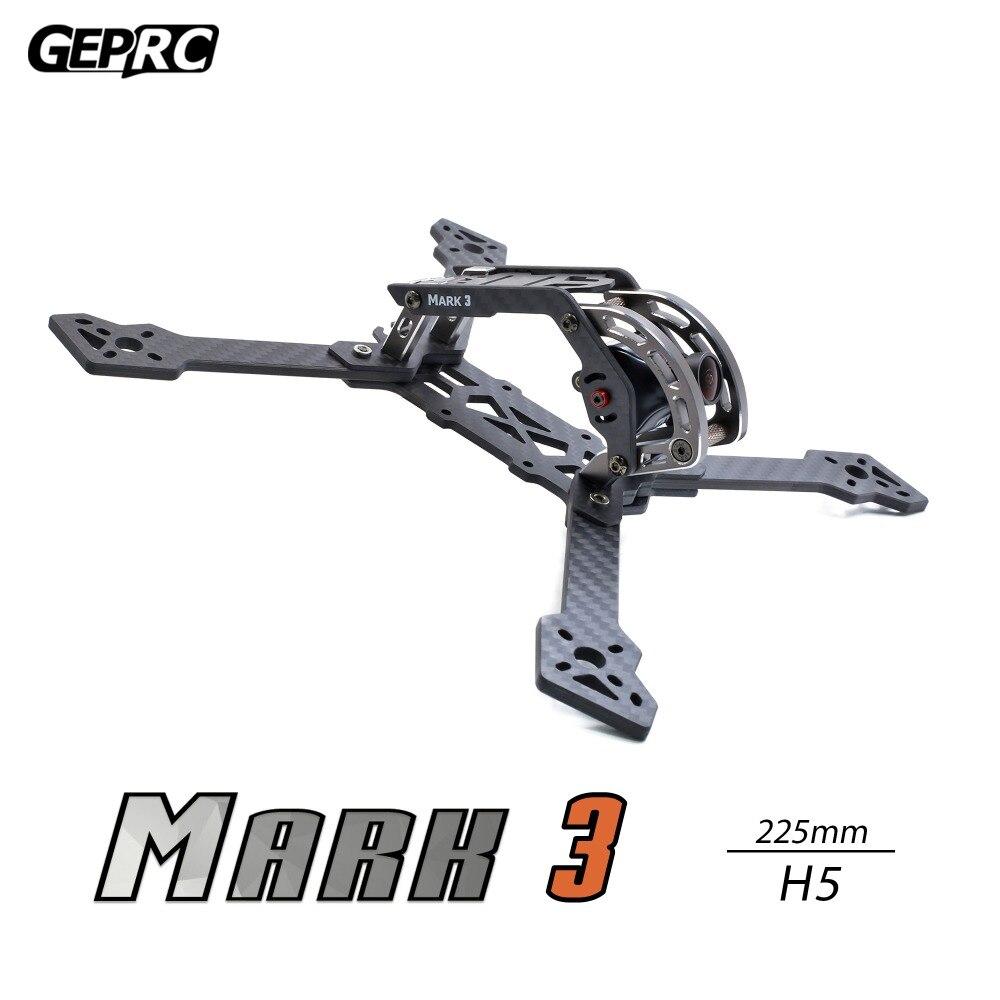 GEPRC GEP Mark 3 H5 T5 225mm/HB56 239mm X Kit de cadre de Drone Quacopter 4mm panneau de bras 3 K fibre de carbone complète pour FPV Racing Freestyle