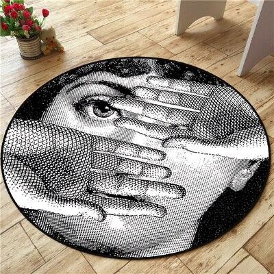 Haute qualité Fornasetti tapis tapis ronds salon paillasson tapis de bande dessinée porte tapis de sol pour chambre Fornasetti tapis