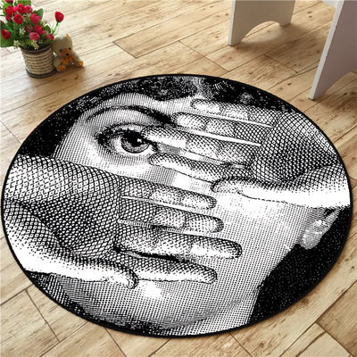 High Quality Fornasetti Carpets Round Rugs Living Room Doormat Cartoon Carpets Door Floor Mat for Bedroom Fornasetti Carpet