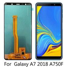 Дисплей для samsung A7 A750 SM-A750F ЖК-экран Замена для samsung A7 A750FN ЖК-экран