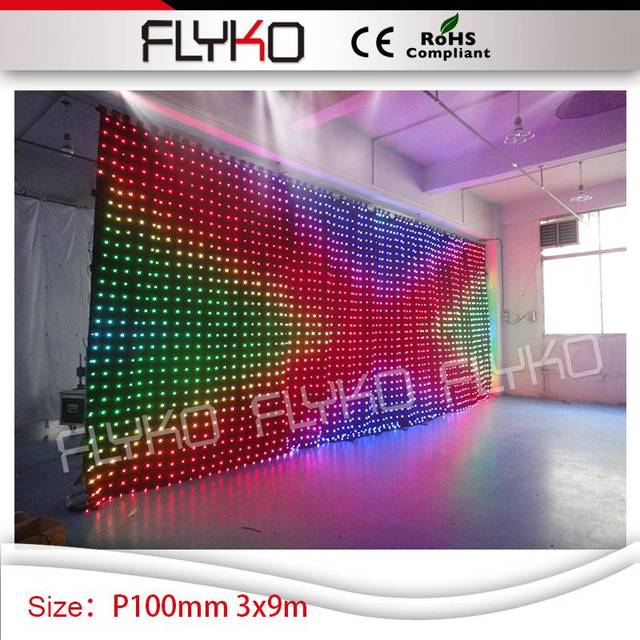 Dj Booth For Sale >> Us 3482 0 Flexible Led Curtain Display Price Sex Fashion Show P100mm 3m By 9m Video Curtain Dj Booth For Sale In Stage Lighting Effect From Lights