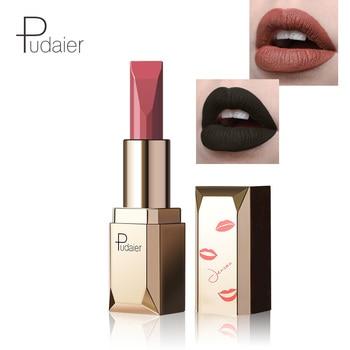 Pudaier lip makeup velvet matte lipstick waterproof long lasting 26 colors batom matte nude lip tint cream sexy lip kit PD012