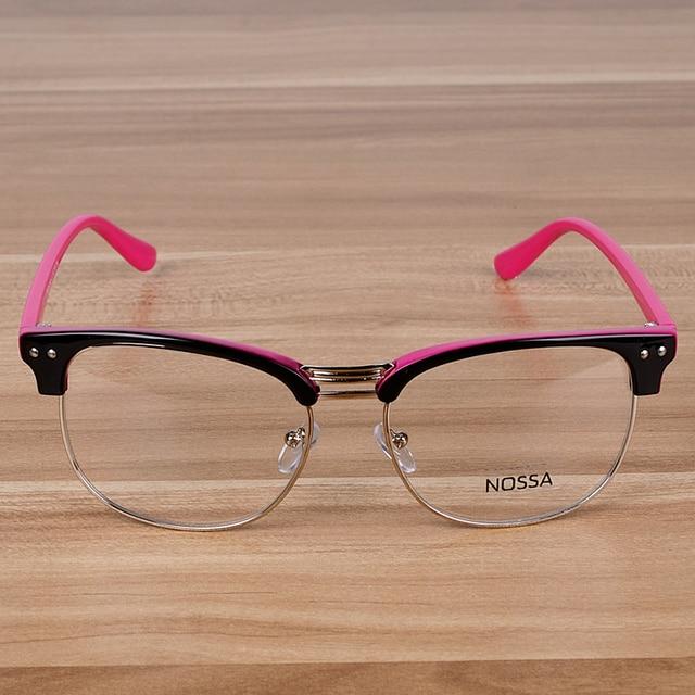 Klasik Wanita Pria Kacamata Bingkai Besar Bingkai Kacamata Vintage Logam  Dan Asetat Unisex Trendy Batal Lens 4bafc84763