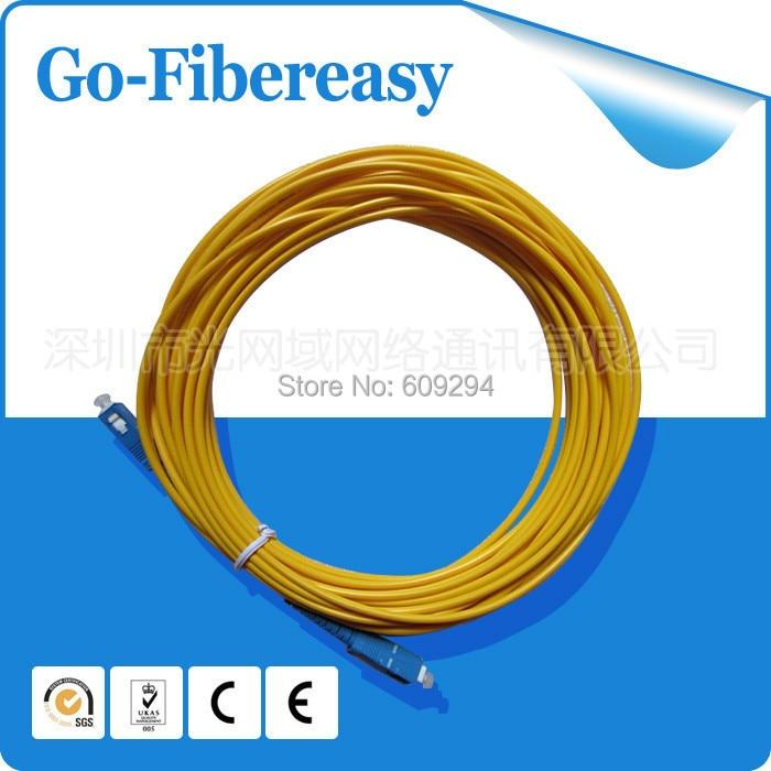 1piece 100meters Fiber Optical Patch Cord SC to SC Single mode Simplex fiber optic pvc cable