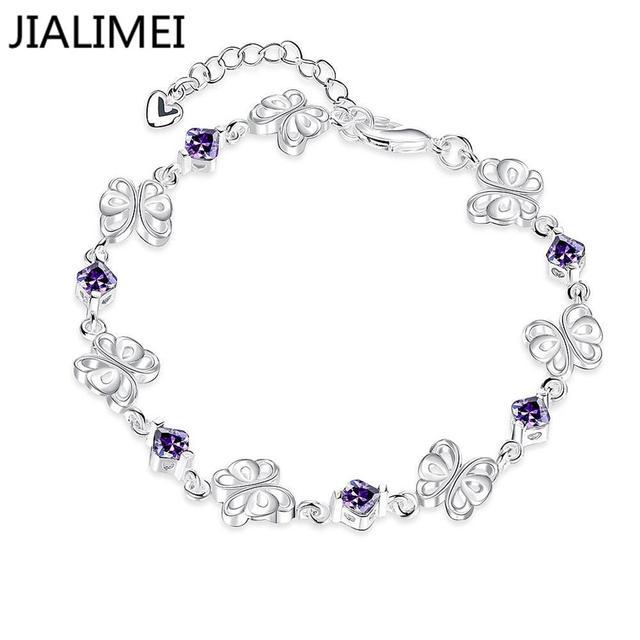 b5887df7aa025 2016 bijoux de mode nouveaux cristaux femmes Bracelet argent bracelets  porte-bonheur bas prix Bracelet