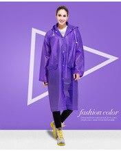 EVA Umweltfreundlich Unisex Regenmantel Wasserdichte Mantel Frauen Lange Motorrad Poncho 2015 Neue Ankunft Fashion Veste De Pluie