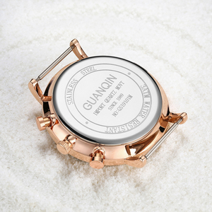 Image 3 - relogio masculino GUANQIN Brand Luxury Watches Men Fashion Creative Chronograph Luminous Analog Retro Leather Strap Quartz Watch