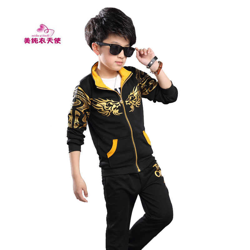 Boys Sports Sets For 2017 New Fashion Children Tracksuits Cotton Boys Clothes Spring Autumn Kids Outfits Suit 4 6 8 10 12 Years