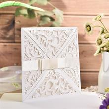 AIHOME 10PCS European Style Elegant Delicate Carved Lace Wedding Party Invitations Cards Decoration Dropshipping