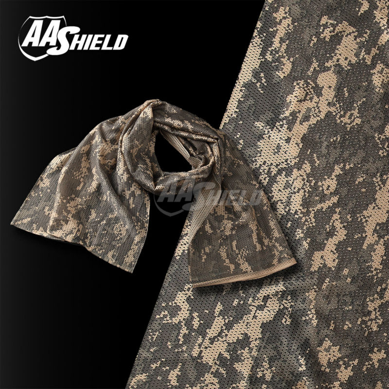 AA Shield Camo Tactical Scarf Outdoor Military Neckerchief Forest Hunting Army Kaffiyeh Scarf Light Weight Shemagh ACU aa shield outdoor camping bandage camo tape military rifle covert adhesive multicolor gun black