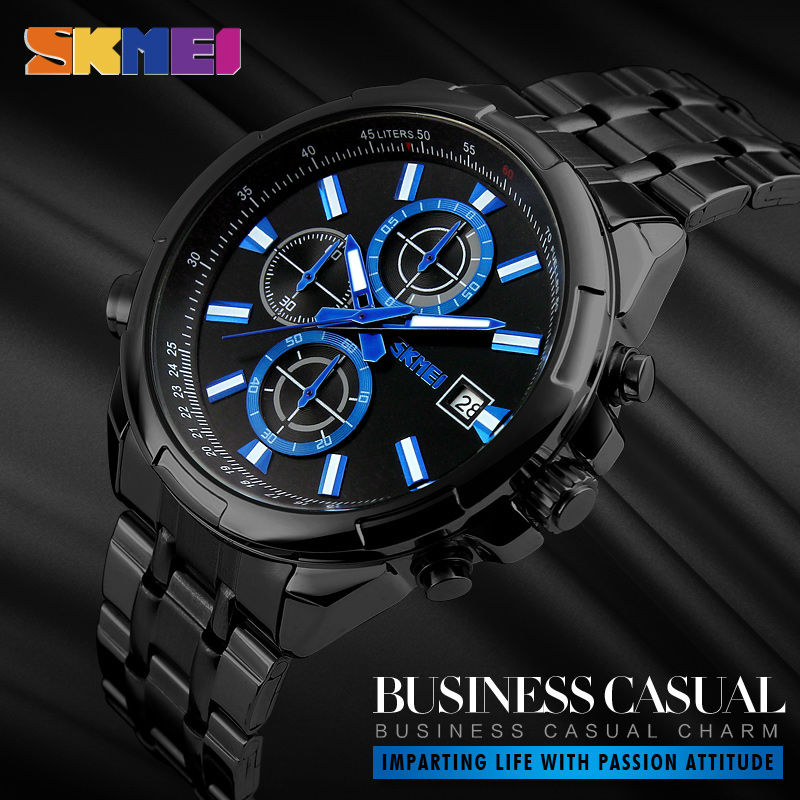 New SKMEI Relogio Masculino Quartz Watches Men Fashion Casual Wristwatches Top Brand Luxury Watch Stainless Steel Strap Watch стоимость