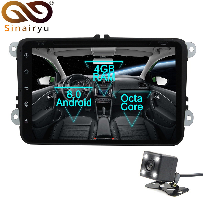 Sinairyu 4GB RAM Octa Core Car DVD Player For Skoda/Octavia/Fabia/Rapid/Yeti/Superb/VW/Seat With Wifi Radio FM GPS Navigation