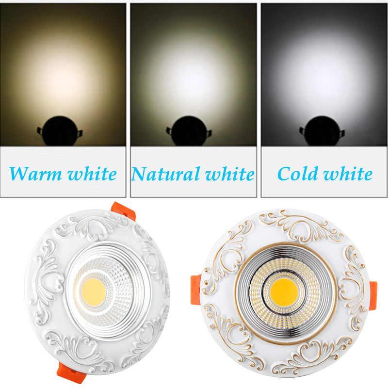 Затемняемый Светодиодный светильник 7 Вт 9 Вт точечный светодиодный даунлайт с регулируемой яркостью cob Светодиодный точечный встраиваемый светильник для гостиной 110 В 220 В